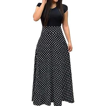Women's Maxi Bodycorn Dress Long Sleeve Bodycon SundressPatchwork O NeckT Shirt Dress
