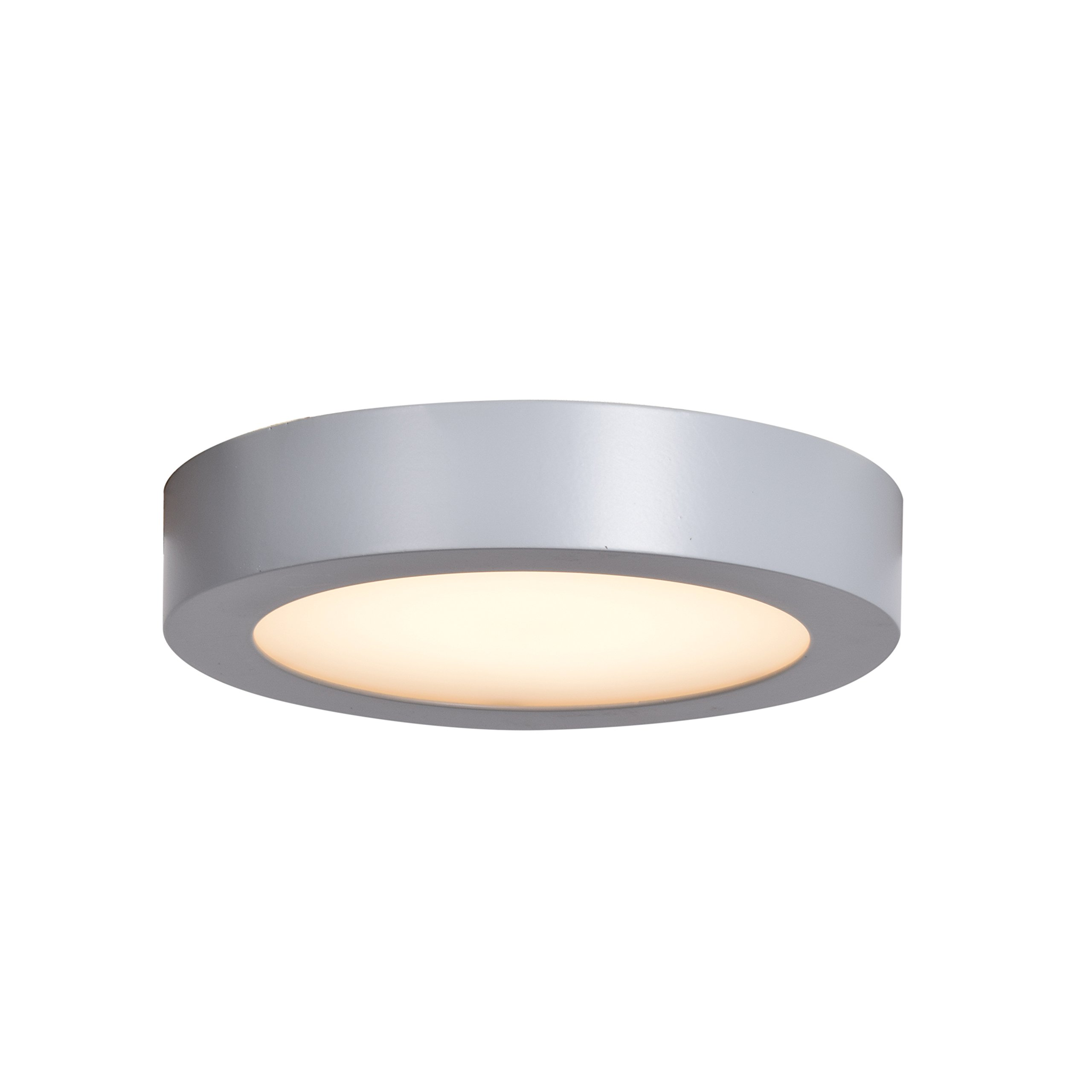 Ulko Exterior LED Outdoor Flush Mount - 6''D - Silver - Acrylic Lens Diffuser by Access Lighting - HI
