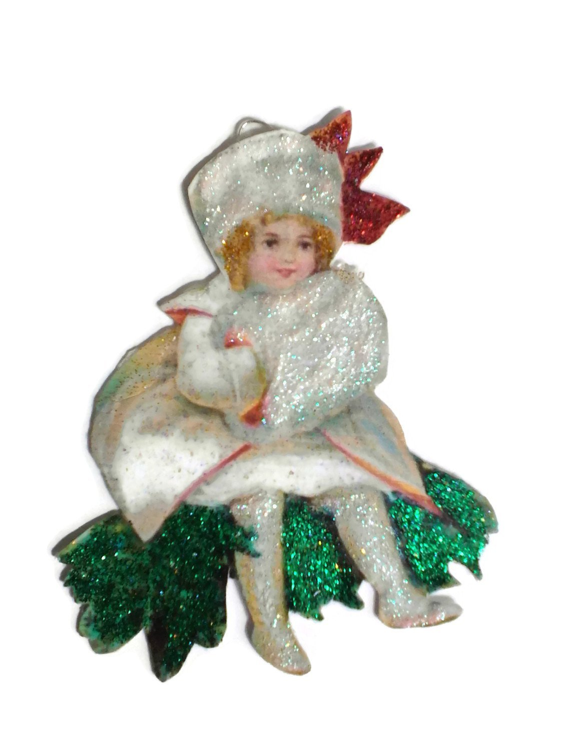 Christmas Tree Ornament Decoration Holiday Winter Snow Girl