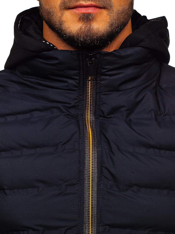 4D4 BOLF Mens Hooded Gilet Sport Vest Casual Bodywarmer Padded Zip Mix