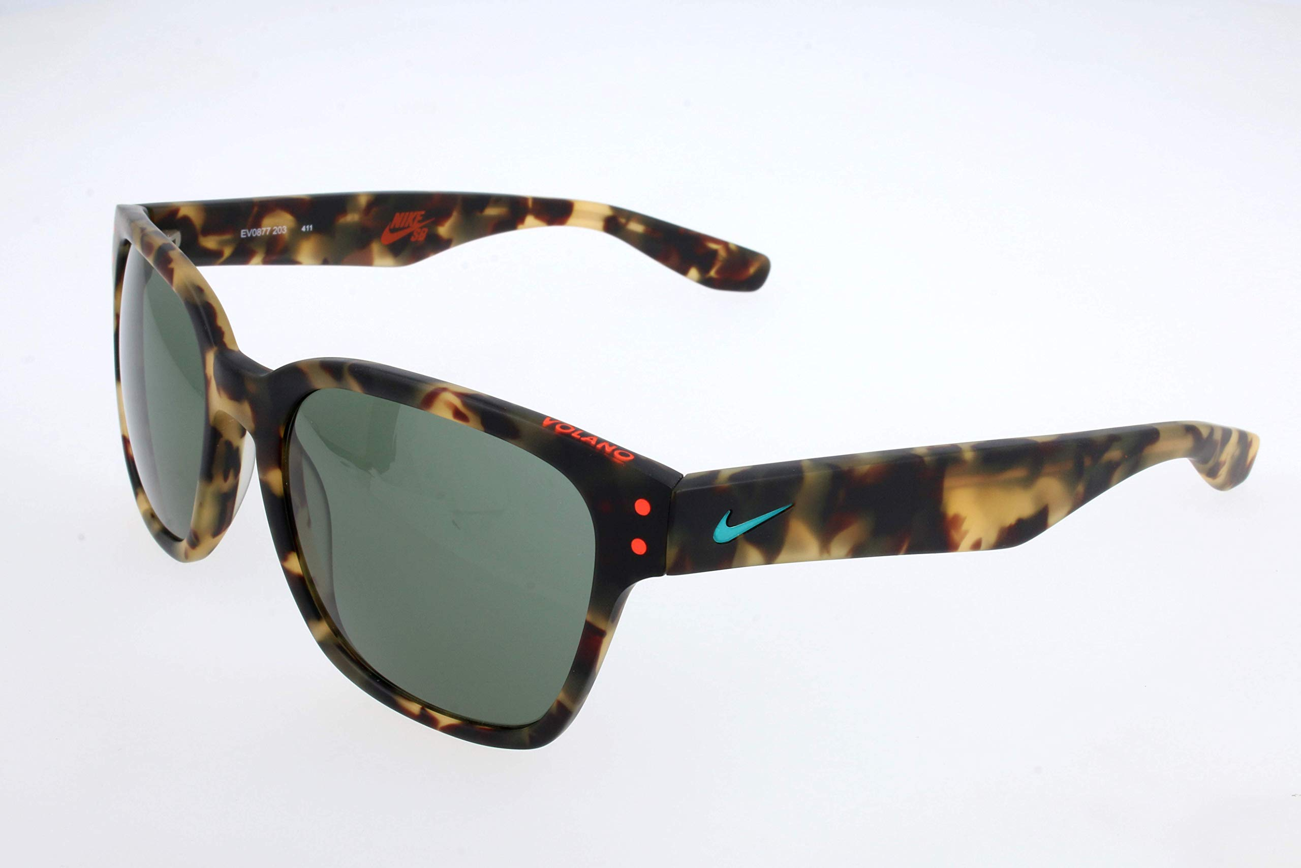 Nike EV0877-203 Volano Sunglasses (One Size), Matte Tokyo Tortoise/Hyper Jade, Teal Lens by Nike (Image #1)