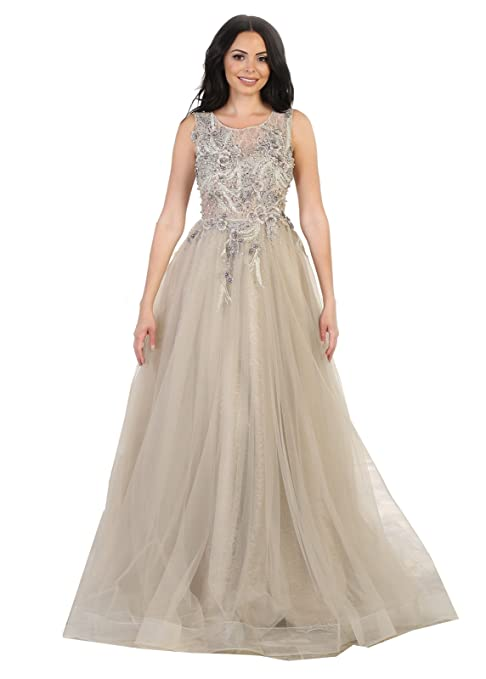Formal Dress Shops FDS7527 Beauty Pageant/Prom Formal Gown at Amazon ...