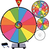 """Prize Wheel 15"""" Dry Erase Game for Fundraisers, Loud Clacker, True Motion, Metal Pegs, Rainbow Unicorn Gift Idea Birthday Game for Kids - Tabletop Wheel Spinner for School Party Event Casino, 15 inch"""