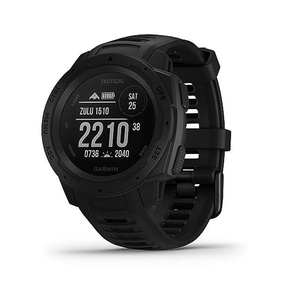 Garmin Instinct Tactical - Reloj con GPS para actividades al aire libre (resistencia frente a golpes y agua, carcasa de polímero reforzado) Negro