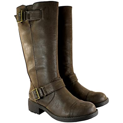 Rocket Dog Damen Schuhe Terry Flat Halbe Wade Boots Stiefel