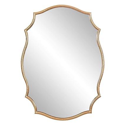 Amazon Patton Wall Decor 24x36 Gold Ornate Accent Mounted Mirrors Home Kitchen