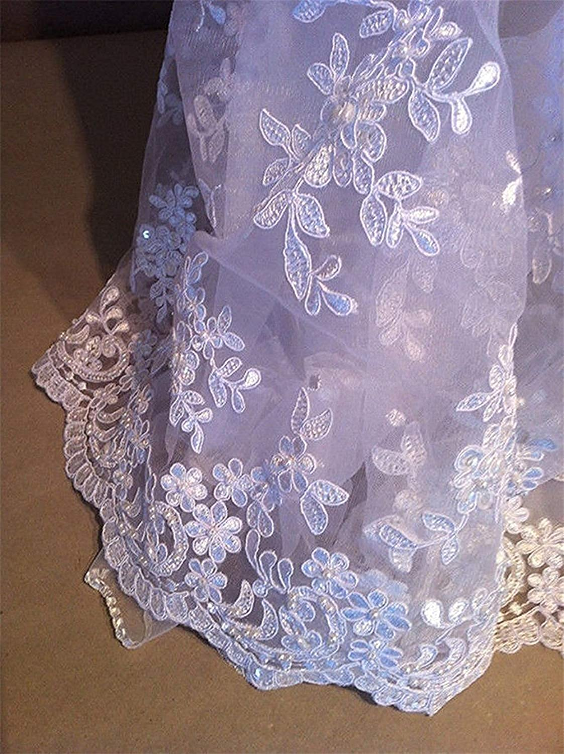 White Lace Long Baptism Dress Ivory Christening Gowns with Bonnet 0-24 Months