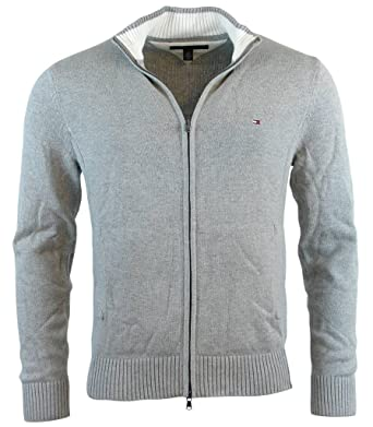 Tommy Hilfiger Mens Full-Zip Mock Neck Cardigan Sweater - XL ...