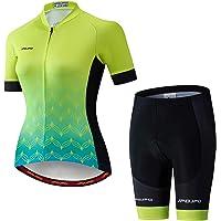 Weimostar Women's Cycling Jersey Bib Shorts Black Sets Short Sleeve Reflective Breathable