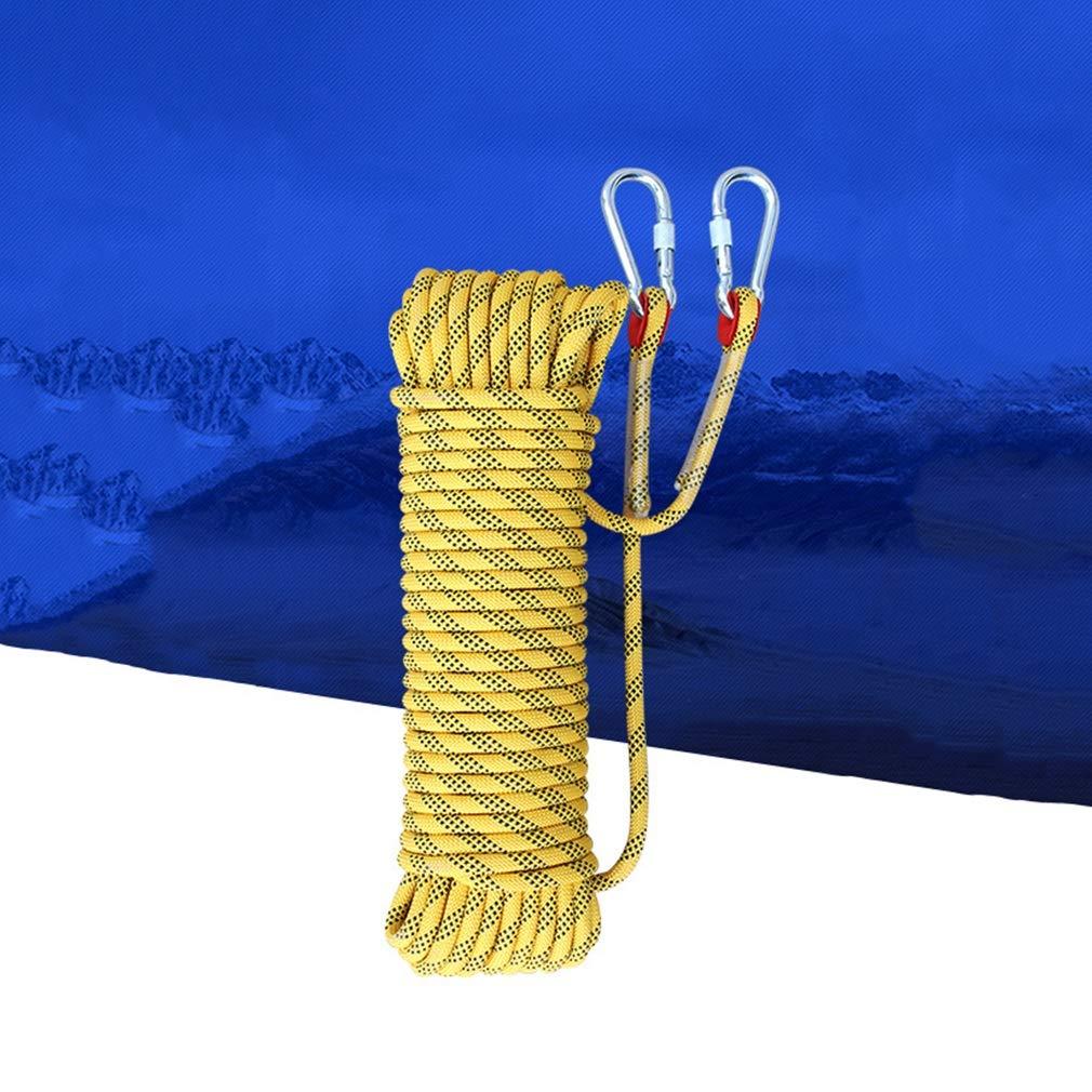 登山ロープ、安全ロープ/屋外クライミングロープ/外壁クリーニング安全ロープ/脱出ロープ (色 : Diameter 12mm, サイズ : 20m) 20m Diameter 12mm B07KDDGYDX
