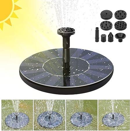 Decdeal Mini Bomba Solar Fuente Bomba Agua Solar Kit Panel de Alimentación Bomba Panel Solar para Piscina de Jardín: Amazon.es: Hogar