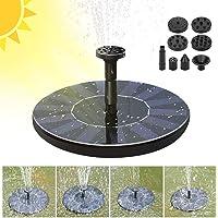Benkeg Mini bomba de fuente solar Bomba de agua solar Kit de panel de energía Bomba de agua de panel solar para piscina de jardín