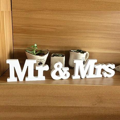 Décoration De Mariage De Lettres Mr Mrs Décoration De Table 1 Ensemble Type 1