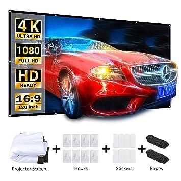 Amazon.com: VANKYO - Pantalla de proyector (pantalla de 120 ...
