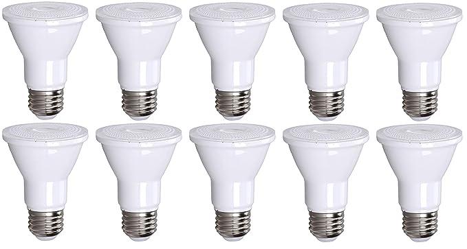 Amazon.com: Paquete de 10 bombillas LED PAR20 de 75 W de ...