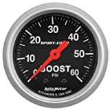 AutoMeter 3305 Sport-Comp Mechanical Boost Gauge