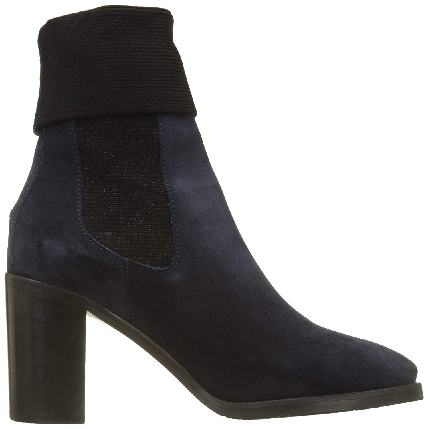 70b5da20e78cee Tommy Hilfiger Women s Knitted Sock Heeled Boot Suede Slouch  Amazon.co.uk   Shoes   Bags