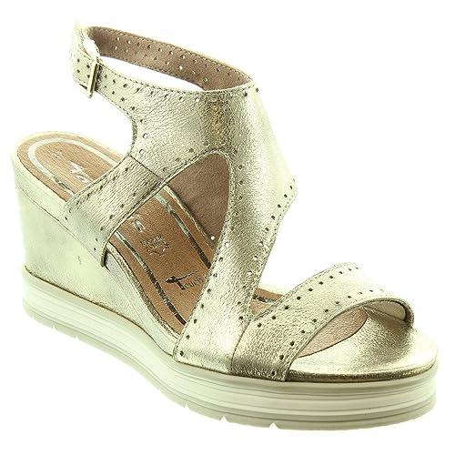 6f28236c Tamaris Ladies 28031 Wedge Sandals in Gold: Amazon.co.uk: Shoes & Bags