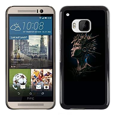Elegant For HTC One M9   Cool Black Gray Robot Artificial Intelligence /Design Hard  Plastic Protective
