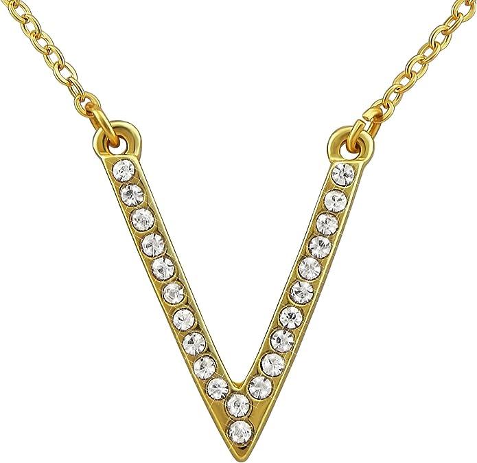 hanessa Mujer de joyas de oro Collar de cadena colgante de