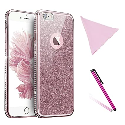 55d813cd04c Zympte Estuche Glitter Fashion para iPhone 6,iPhone 6s, Funda Protector  Lujoso y Flexible