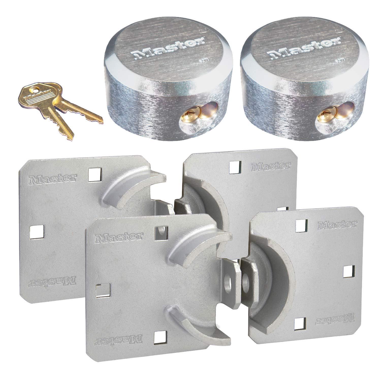 Master Lock - Hasp / Hidden Shackle (2) Keyed Alike Padlocks 770-6271NKA-2 w/ BumpStop Technology by Master Lock