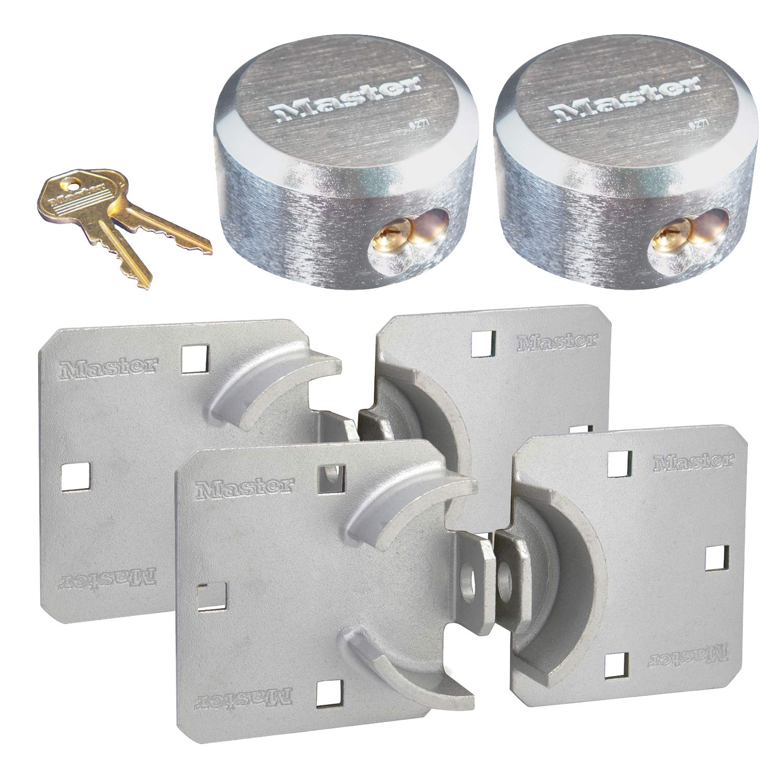 Master Lock - Hasp / Hidden Shackle (2) Keyed Alike Padlocks 770-6271NKA-2 w/ BumpStop Technology
