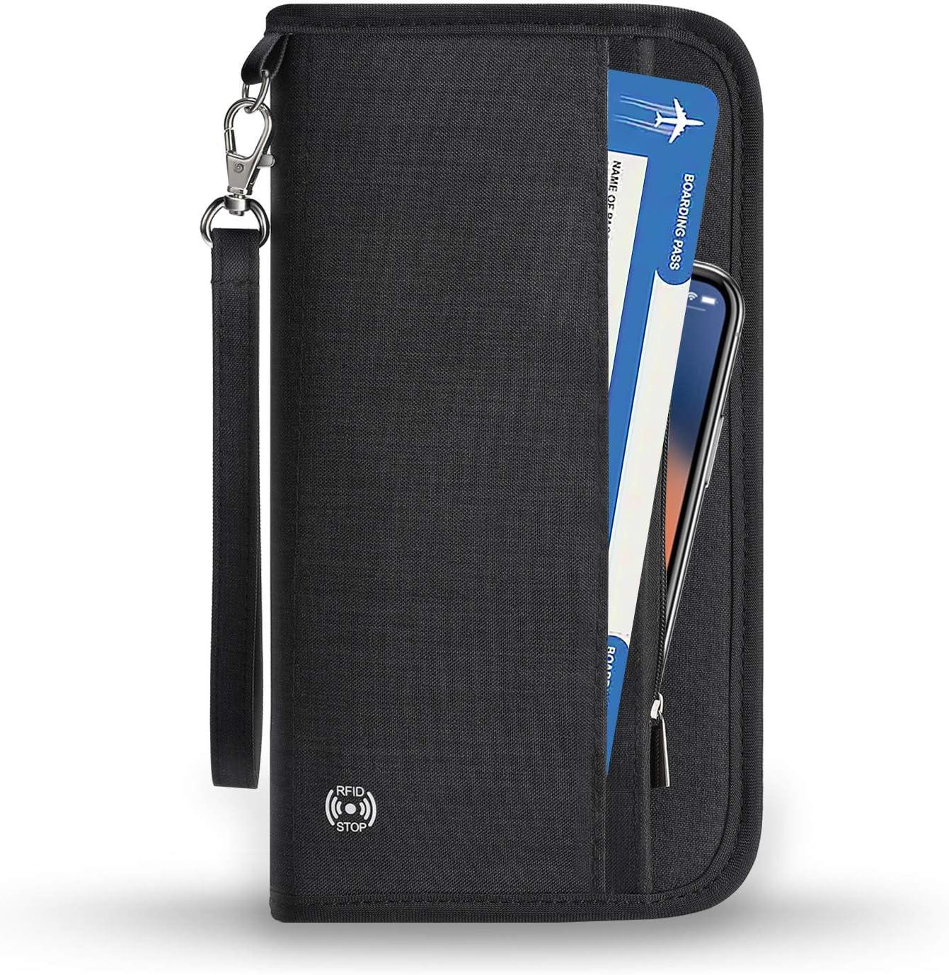 New Travel Passport Holder Case Cover PU ID Card Ticket Organizer Case WE