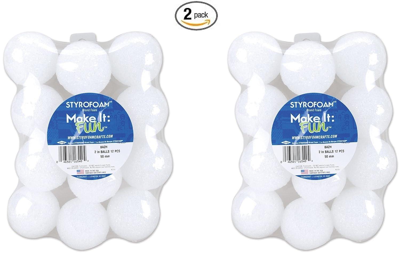 Floracraft Styrofoam Balls 3-Inch Pack of 6 White
