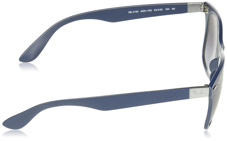 6ecf3eafd2eefe Ray-Ban RAYBAN 0RB4195 63318G 52 Montures de lunettes Homme, Bleu (Matte  Blue Gradient Dark Grey)  Amazon.fr  Vêtements et accessoires