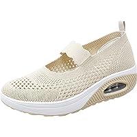 Merceditas Plataforma Ligero Zapatillas Sandalias para Mujer Malla Sneaker Mary Jane Casual Zapatos de Deporte Mocasines…