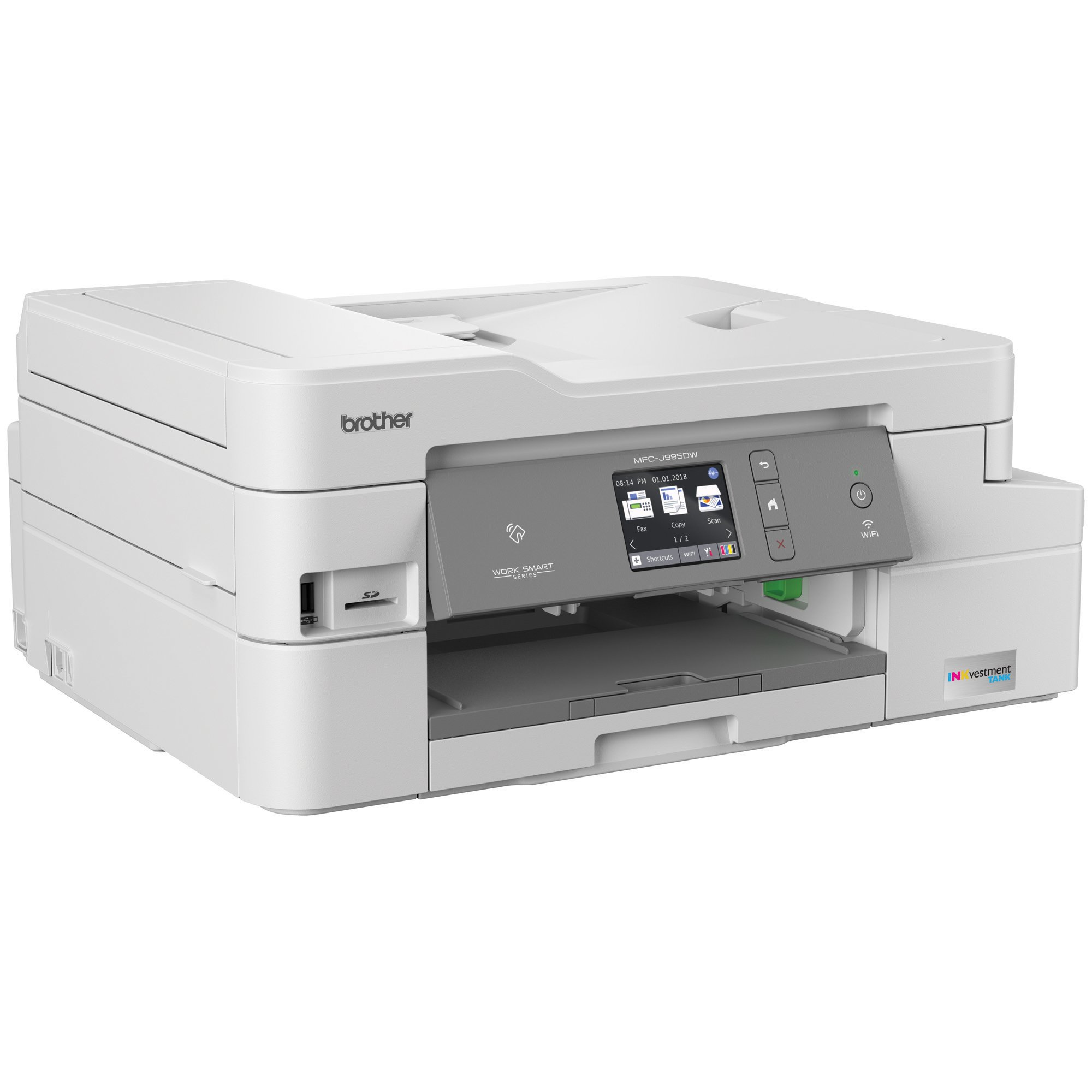 Brother MFC-J995DW INKvestmentTank Color Inkjet All-in-One Printer with Mobile Device and Duplex Printing, Up To 1-Year of Ink In-box by Brother