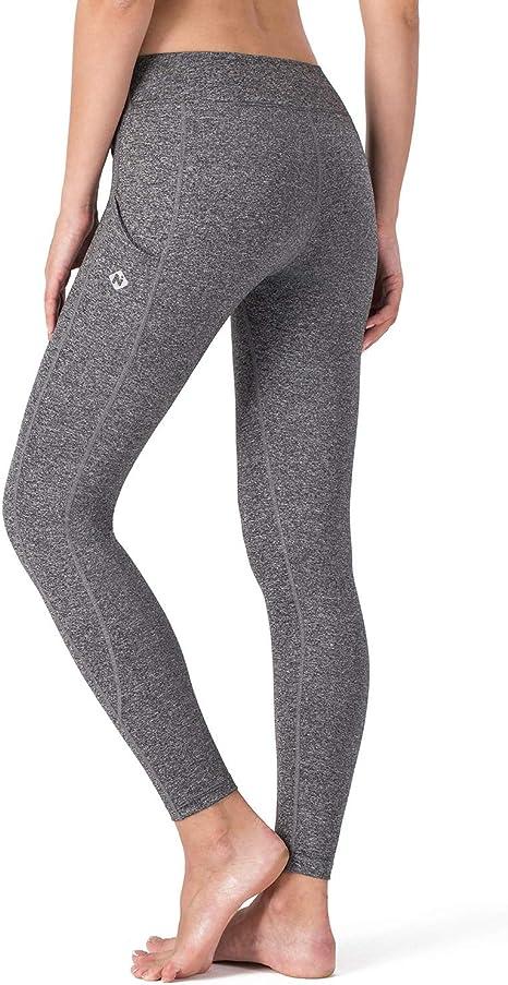 LIKEZZ Leggings a Vita Alta Push Up Leggins Sport Donna Fitness Running Yoga Pantaloni da Jogging Pantaloni da Palestra Senza Cuciture Leggings Morbidi S Grigio