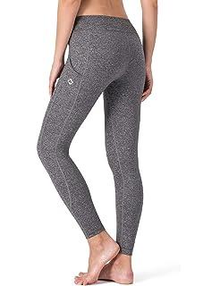 NAVISKIN Pantalones Yoga Mujer Pilates Mallas Deportivas Leggings Largos Bolsillos Laterales Elástico Transpirable Training Running Fitness
