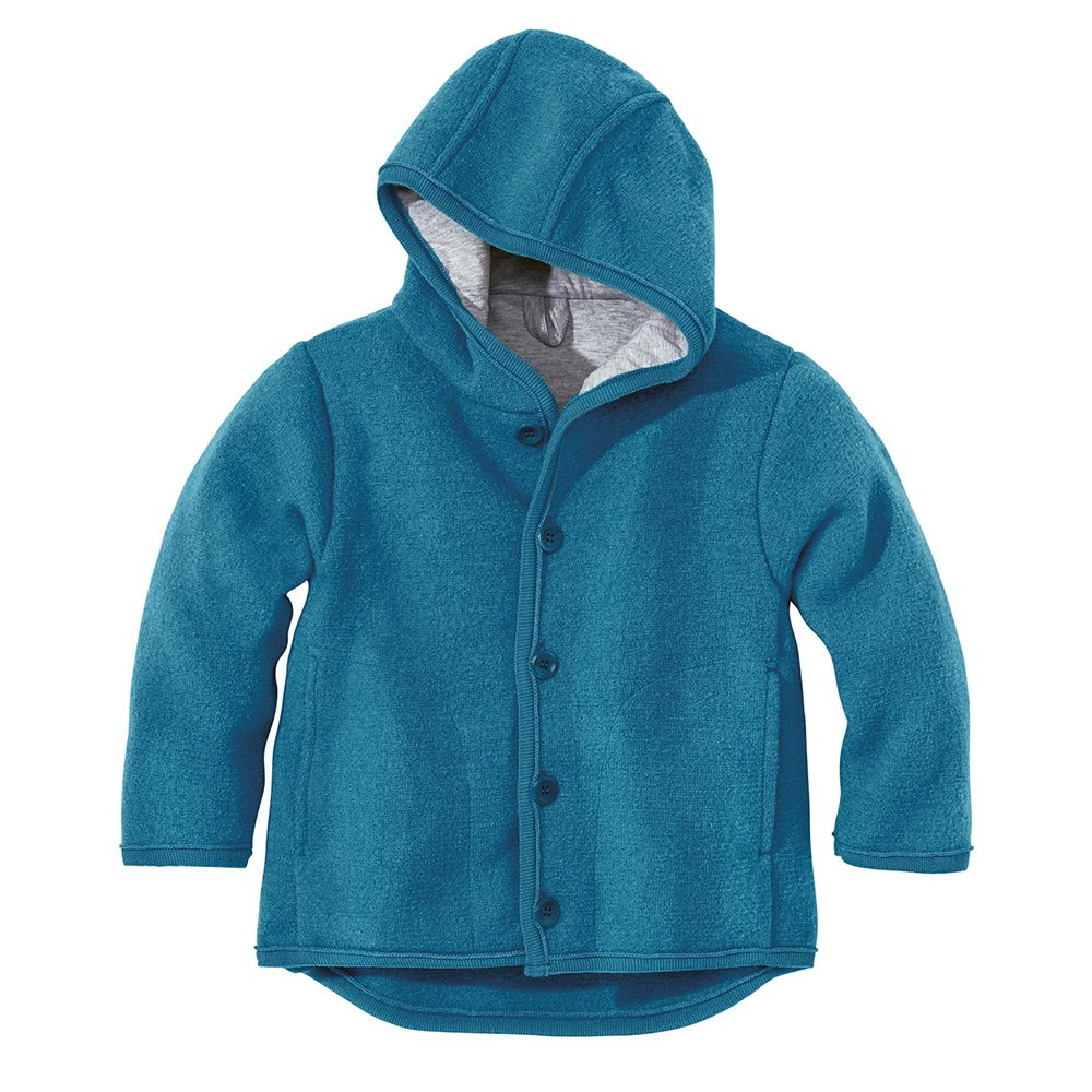 6-12 Monate Disana 32309XX Jacke gekochte Wolle gr/ün Gr rot