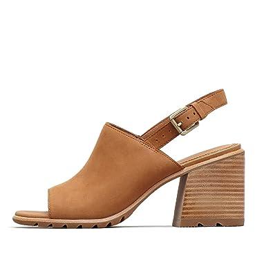 79a7546bd31 SOREL - Women's Nadia Slingback Open Toe Sandal with Ankle Strap, Camel  Brown, 6