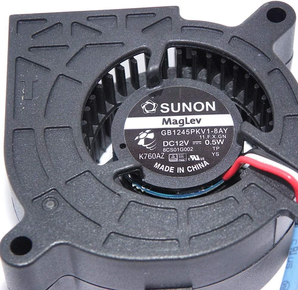 New Sleeve Bearing Blower Fan SUNON GB1245PKV1-8AY 11.F.X.GN 454525mm 12V 0.5W