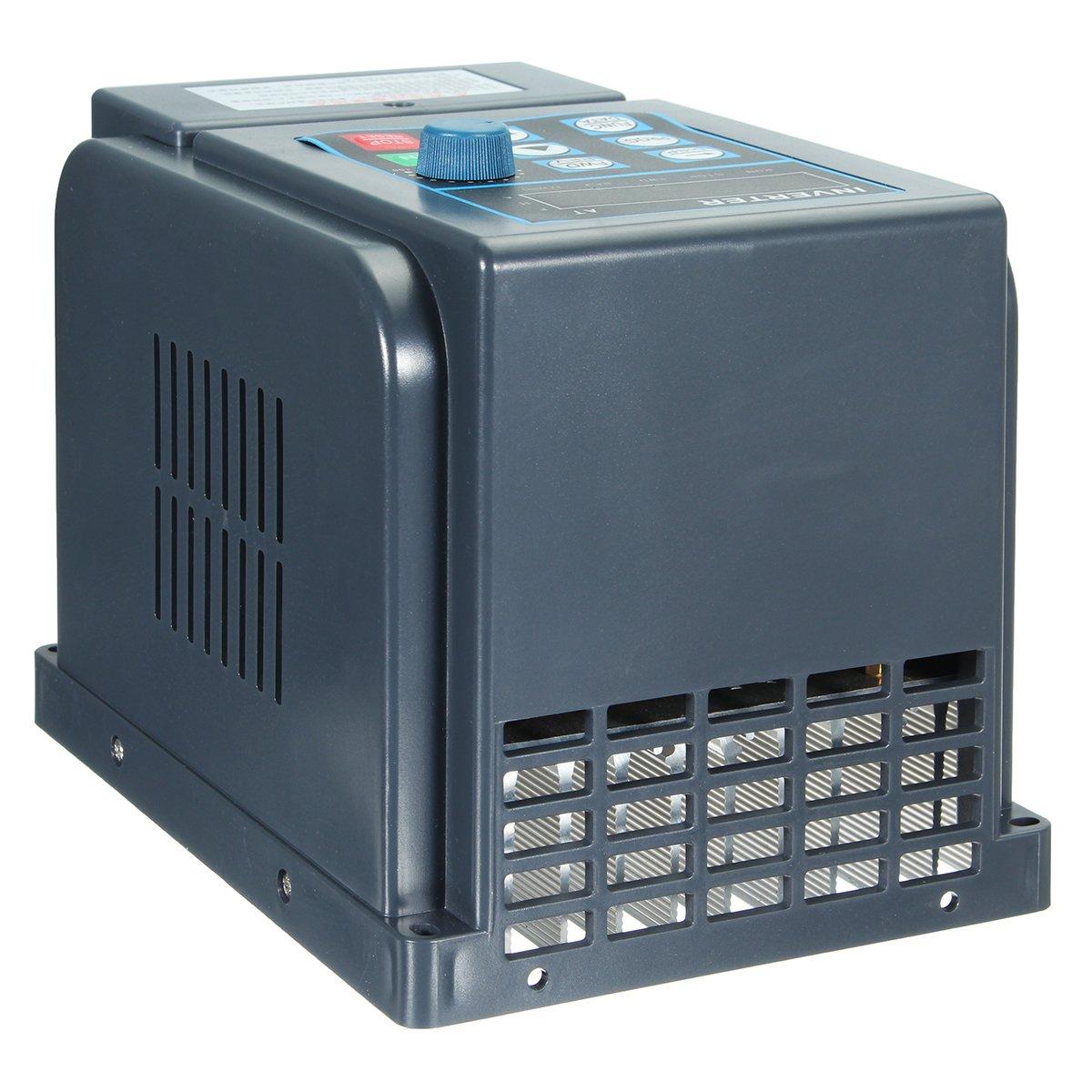 Tutoy 1.5 KW 8A 220V 1Ph in 3Ph Out 380V Convertisseur De Fr/équence Variable Variateur V//F Commande Vectorielle