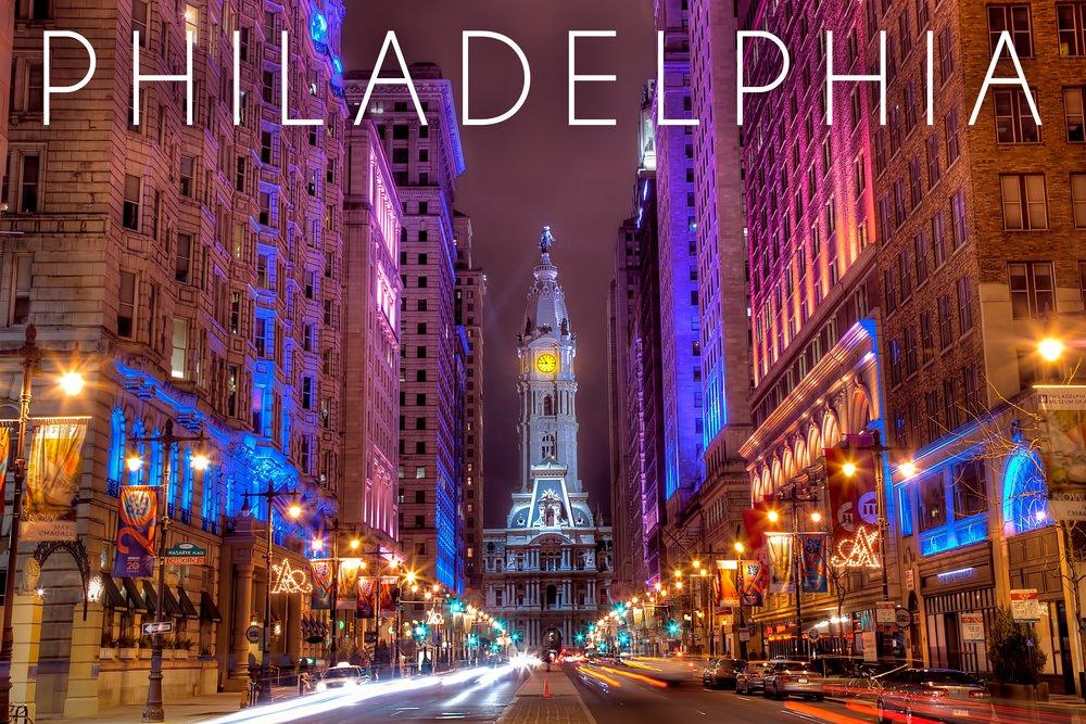 Philadelphia, Pennsylvania - City Hall (12x18 Art Print, Wall Decor Travel Poster)