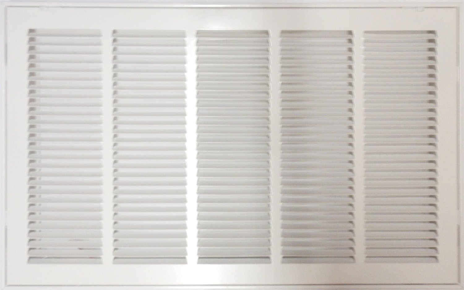 25'' X 20 Steel Return Air Filter Grille for 1'' Filter - Removable Face/Door - HVAC DUCT COVER - Flat Stamped Face - White [Outer Dimensions: 27.5''w X 22.5''h]