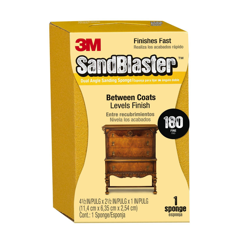 SandBlaster 3M P150 - Esponja de lija de doble á ngulo para uso entre recubrimientos 9564
