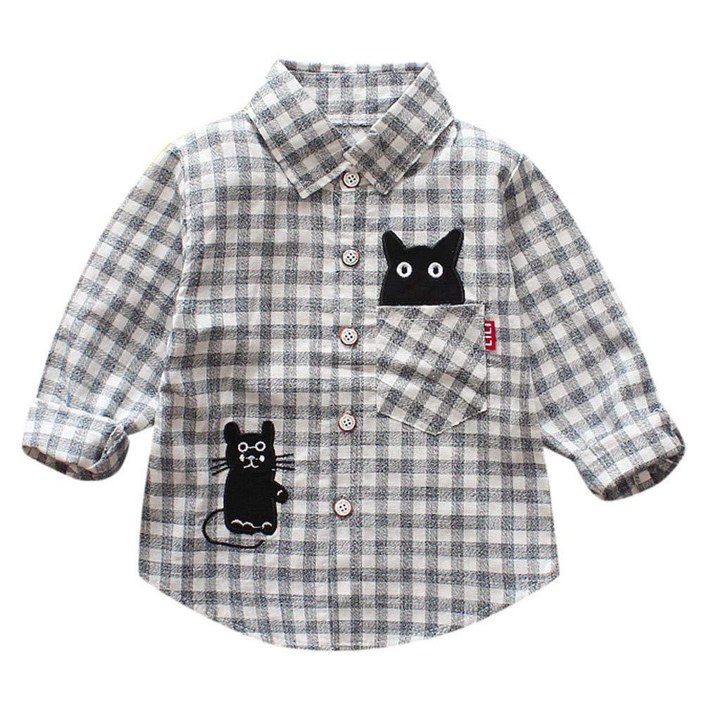 LANSKIRT Ropa para Recién Nacido Infantil bebé niños Camisa de Cuadros a Cuadros de Manga Larga Turn-Down Collar Invierno: Amazon.es: Ropa y accesorios