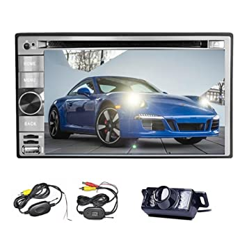 Kabellose Rücksicht-Kamera inklusive Double2DIN Stereo ...