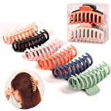 Hair Claw Clips 6 Pack Big Hair Claw Clips 4.3 Inch Nonslip Large Claw Clips For Thick Hair Strong Hold Jumbo Matte Hair Clip