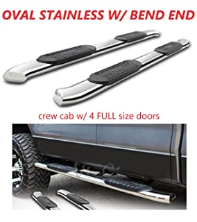 Side Steps Nerf Bars Running Boards Chrome - Rocker Panel Mount Galaxy Auto 5 Oval Curved for 2007-18 Chevy Silverado//GMC Sierra 1500//2500//3500 Crew CAB