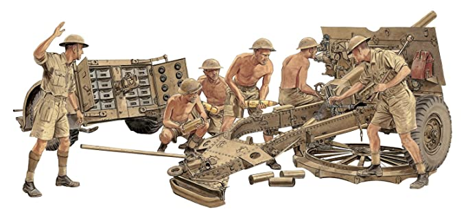 Amazon com: Dragon Models 1/35 British 25-Pdr  Field Gun Mk