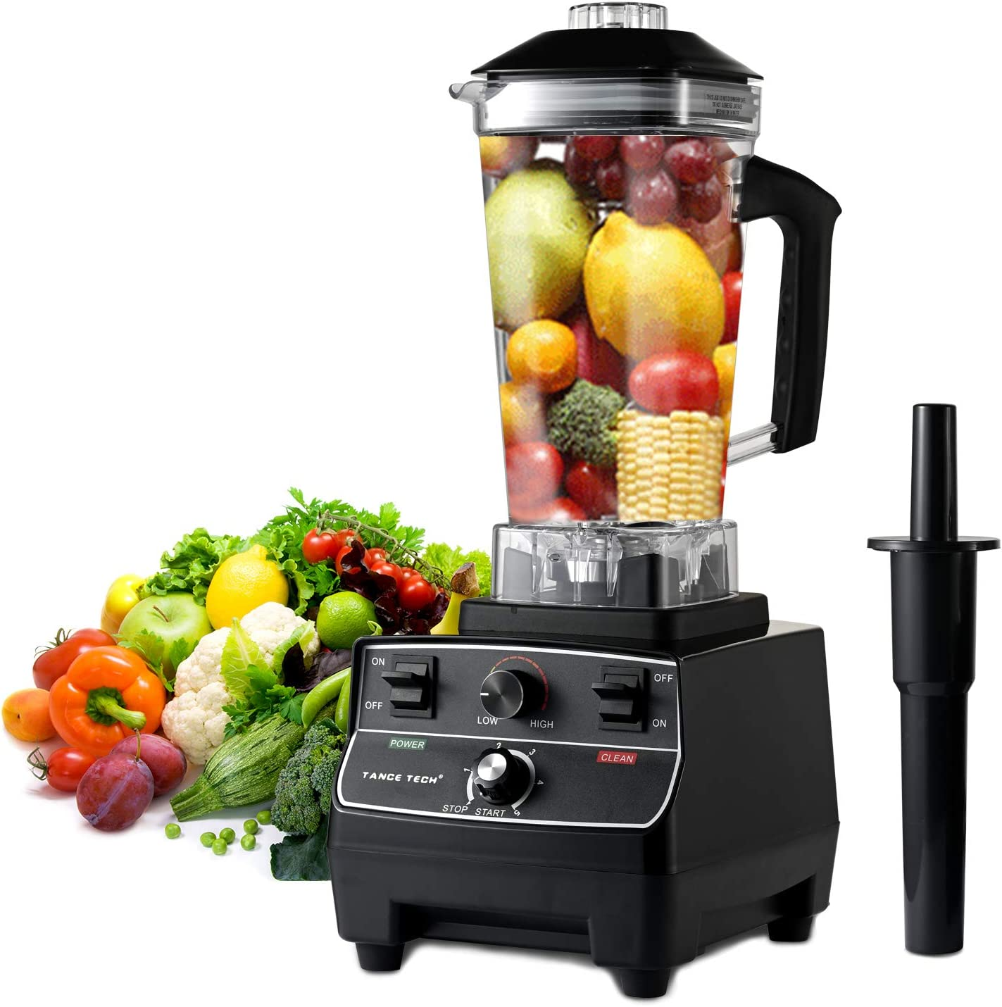 Tance Tech Professional Countertop Blender for Kitchen - 2200-Watt Home and Commercial Blender - High Speed Multifunctional Blender with Adjustable Speeds Control,Built-in Timer - 68 Oz Cups for Shakes and Smoothies,Frozen Drinks, Crusing Ice, Frozen Dessert,Fish or Hot Soups