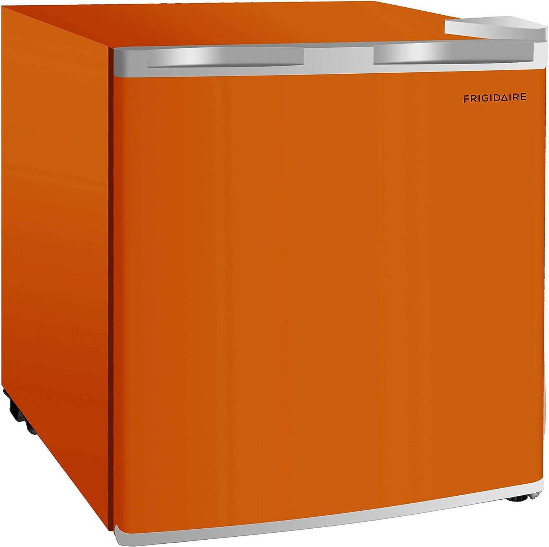 Frigidaire EFR115-ORANGE 1.6 Cu Ft Compact Fridge for Office, Dorm Room, Mancave or RV, Orange