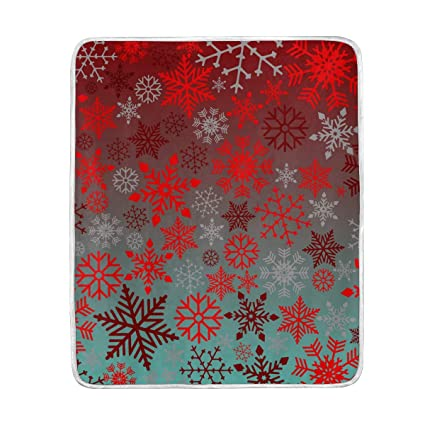 Admirable Amazon Com Blood Red Christmas Snowflakes Soft Warm Throw Theyellowbook Wood Chair Design Ideas Theyellowbookinfo