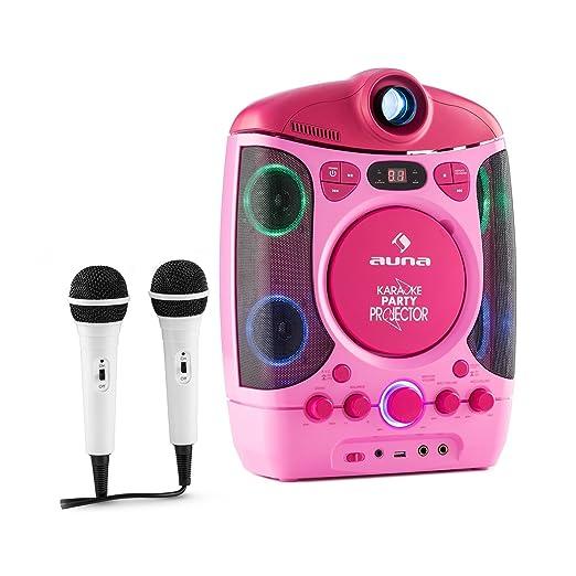 64 opinioni per auna Karaprojectura Impianto Karaoke con proiettore testi e 2 microfoni inclusi